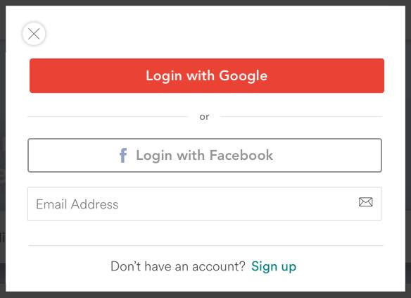 Google auth more prominent, other options with a lower opacity