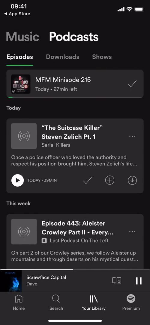 Screenshot of Podcasts on General browsing on Spotify user flow