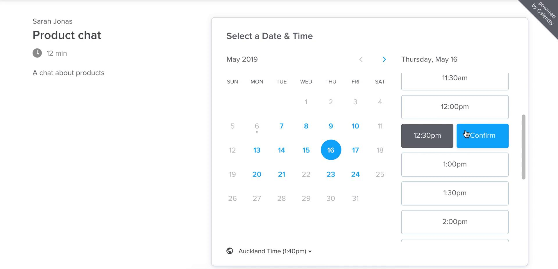 Booking a meeting on Calendly (video & 5 screenshots)