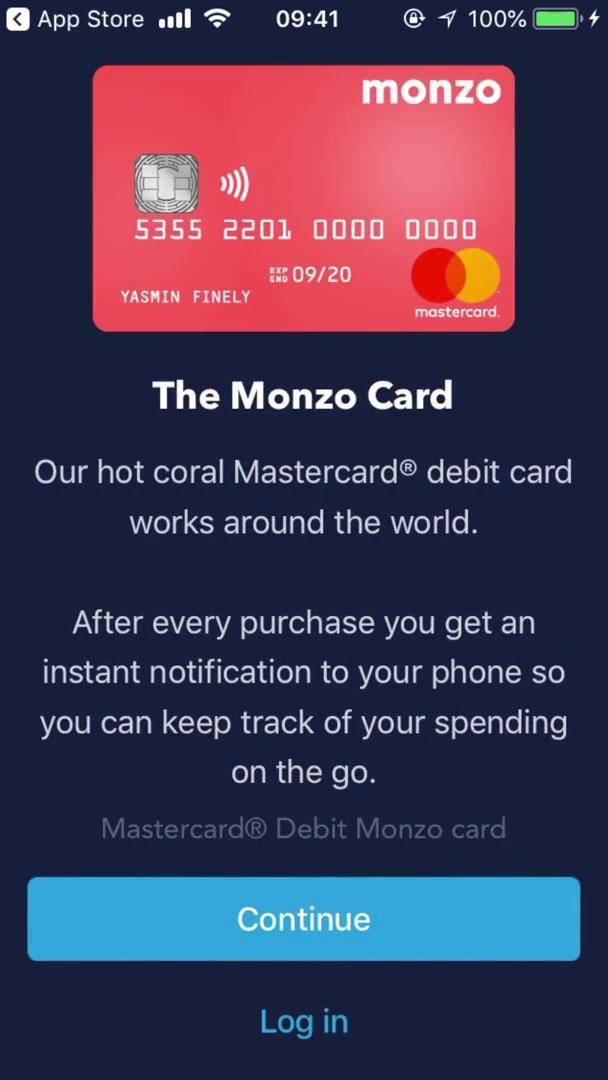 Onboarding on Monzo (video & 38 screenshots)