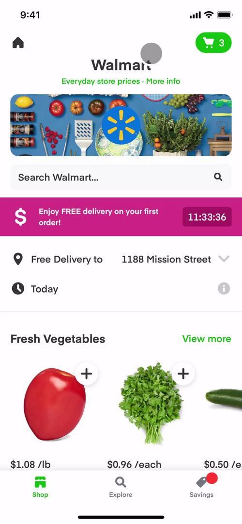 Screenshot of Shop on Inviting people on Instacart user flow