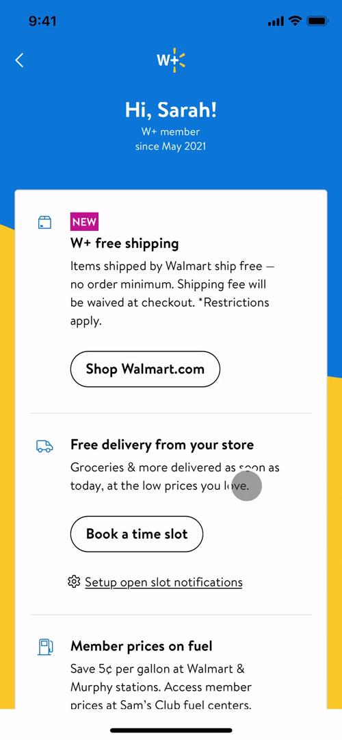 Screenshot of Premium benefits on Cancelling your subscription on Walmart user flow