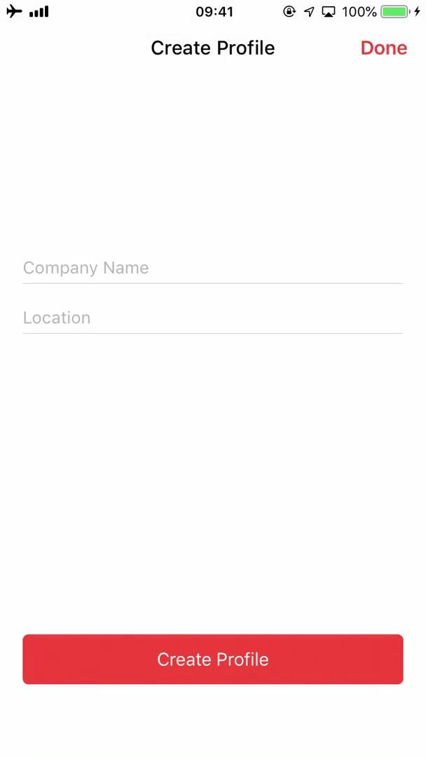 Screenshot of Company details during Applying as a company on Job Today user flow