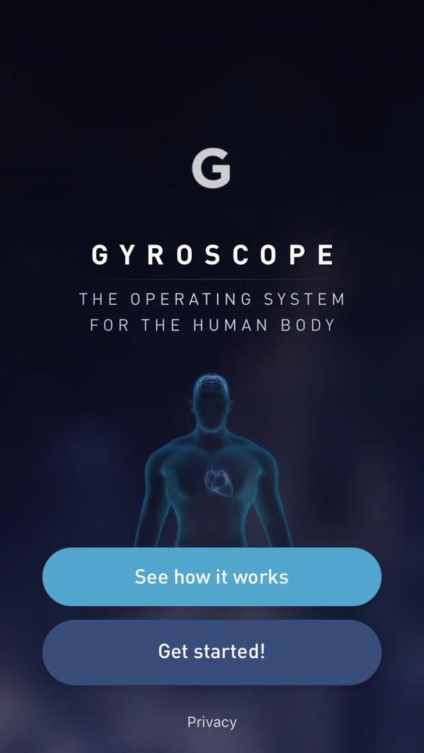 Screenshot of Sign up during Onboarding on Gyroscope user flow