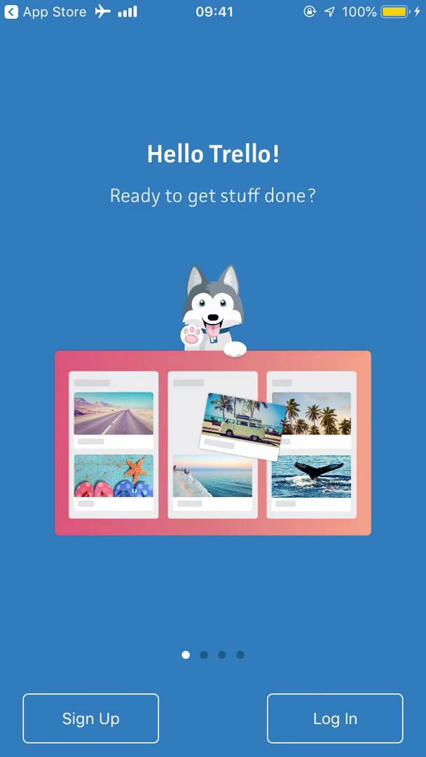 Trello for iOS onboarding screenshot