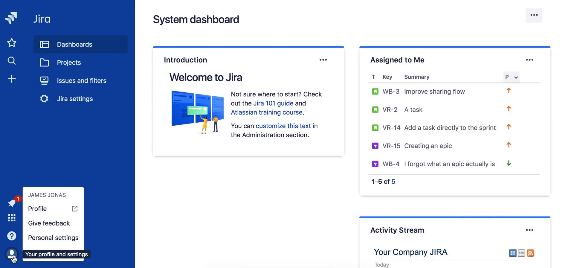 Enabling 2FA on Jira video screenshot
