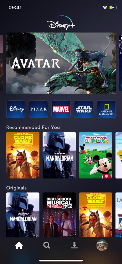 Discovering content on Disney+ video screenshot