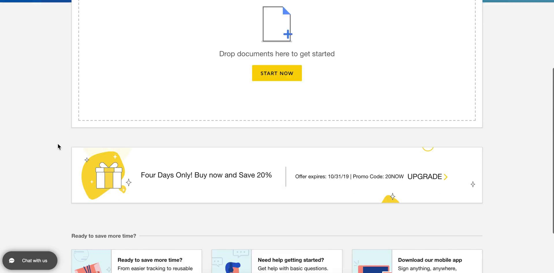 General browsing on DocuSign video screenshot