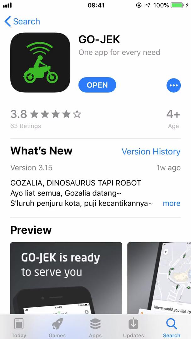 Onboarding on Go-Jek video screenshot