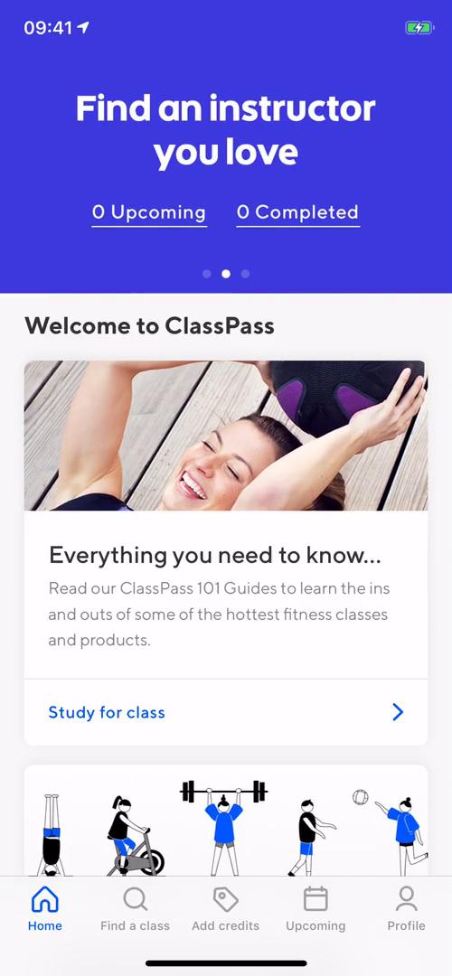Booking a class on ClassPass video screenshot