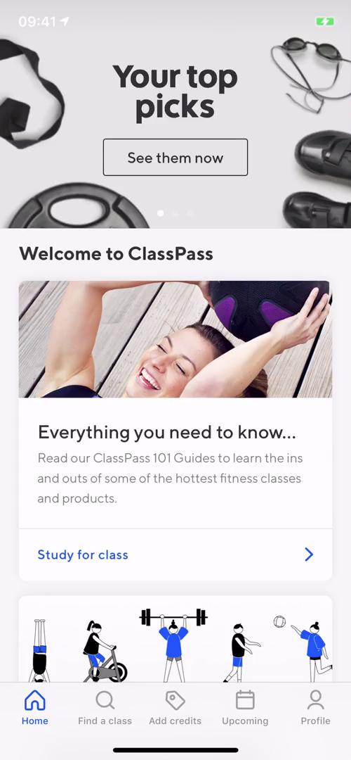 General browsing on ClassPass video screenshot