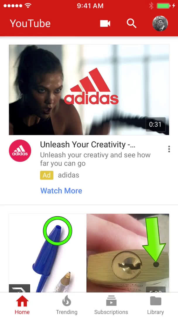 Sharing a video on YouTube video screenshot