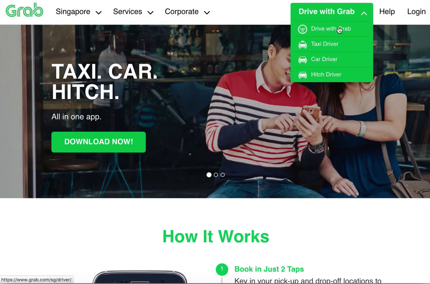 Driver signup on Grab video screenshot