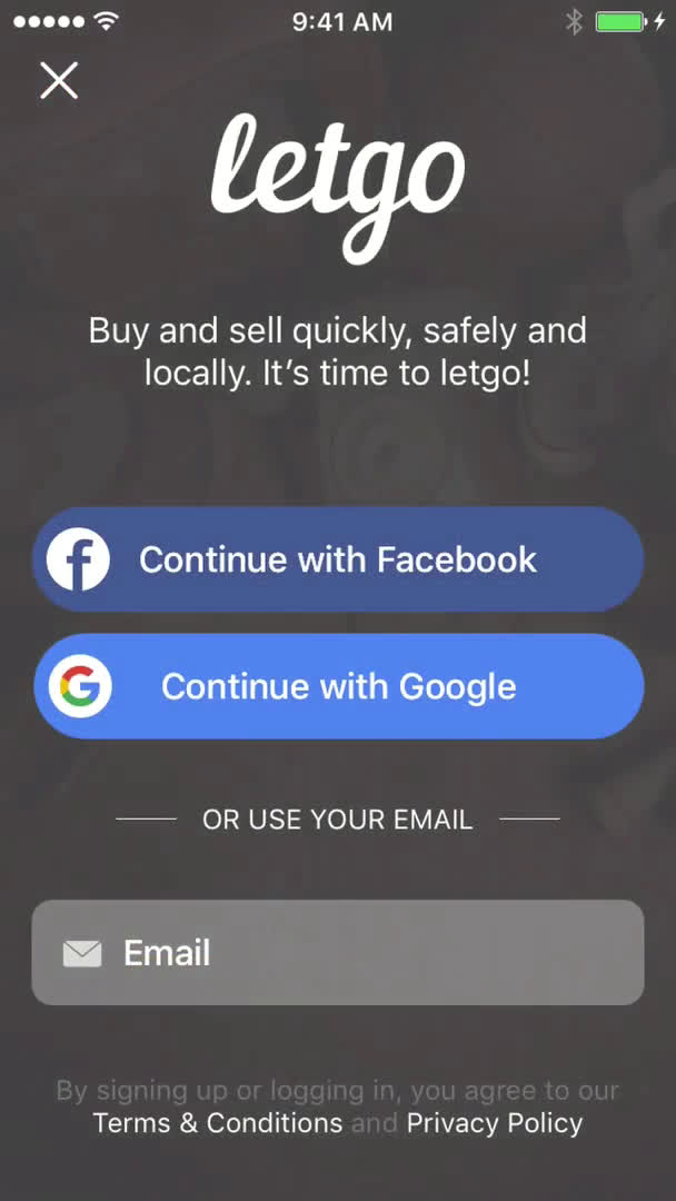 Onboarding on Letgo video screenshot