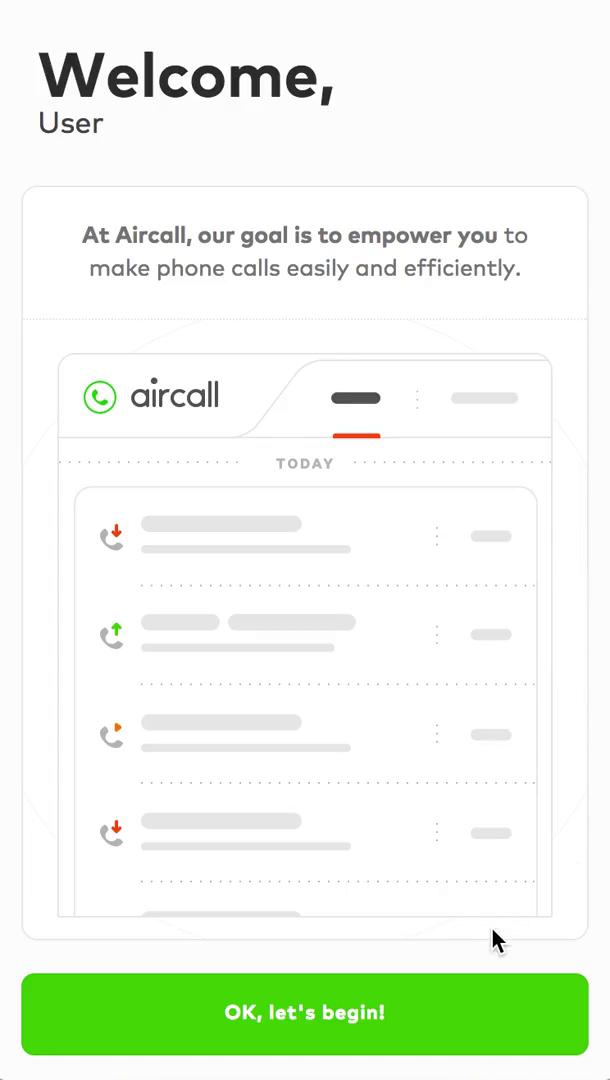 Onboarding on Aircall video screenshot