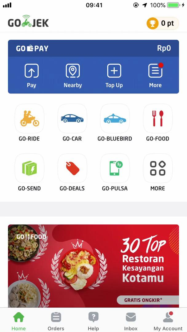 Ordering food on Go-Jek video screenshot