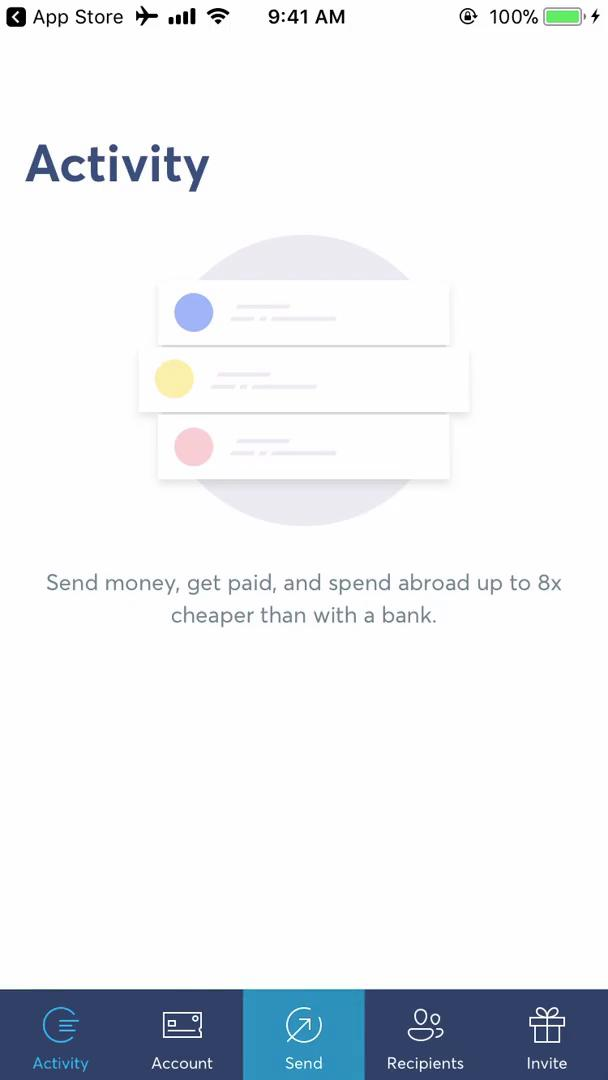 Sending currency on TransferWise video screenshot