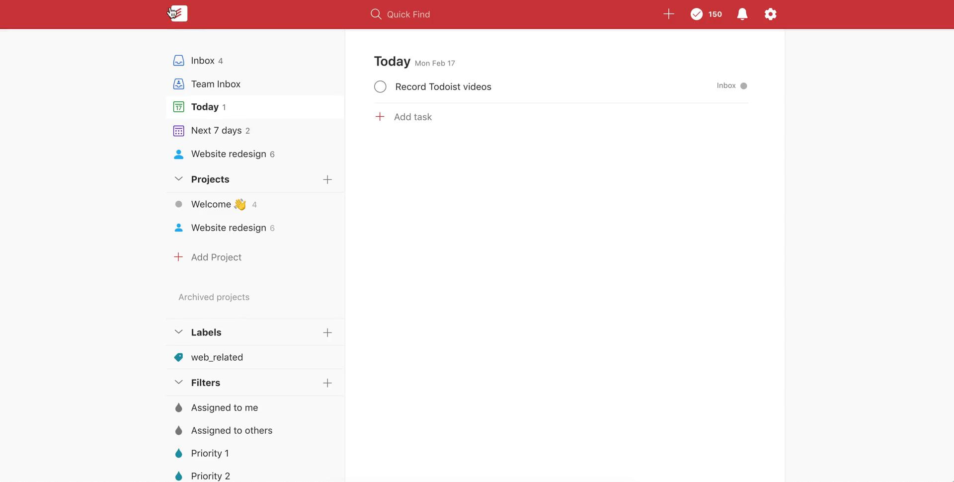General browsing on Todoist video screenshot