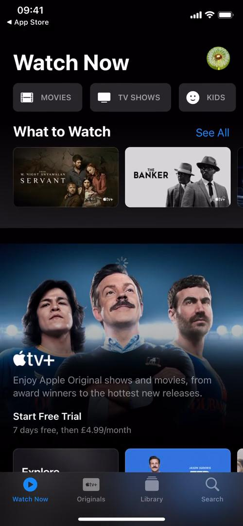Upgrading your account on Apple TV video screenshot