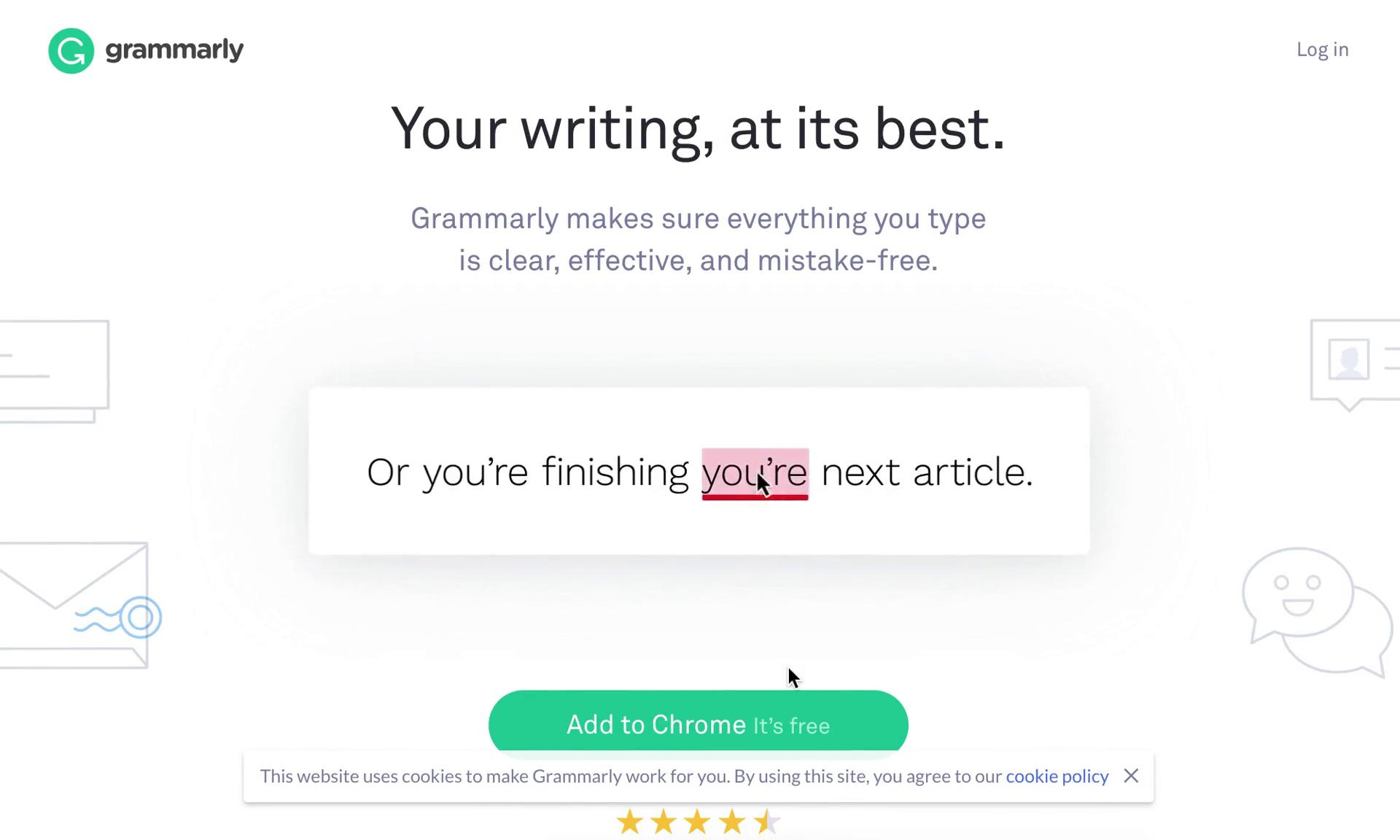 Onboarding on Grammarly video screenshot