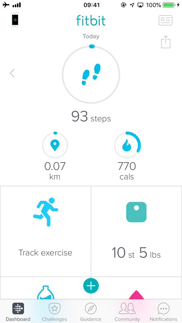 Analytics/Stats on Fitbit video screenshot
