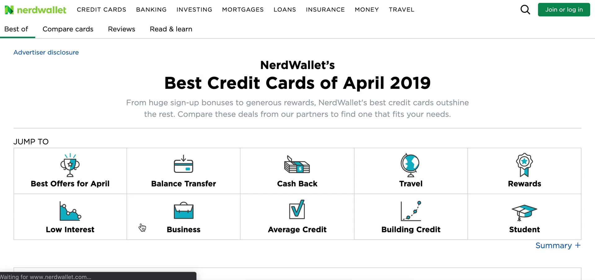 Recommendations on NerdWallet video screenshot