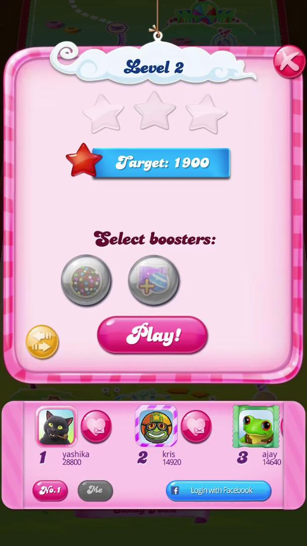 Completing a level on Candy Crush video screenshot