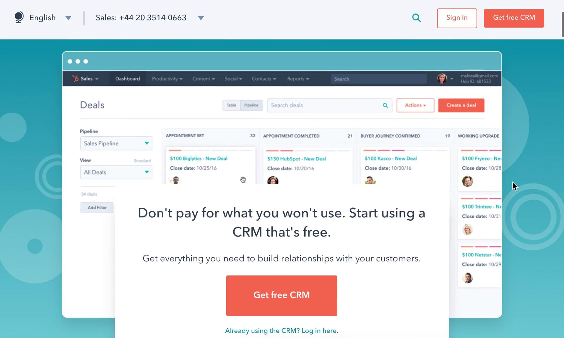 Onboarding on HubSpot CRM video screenshot