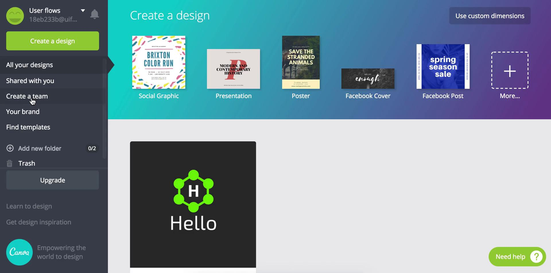 Inviting people on Canva video screenshot