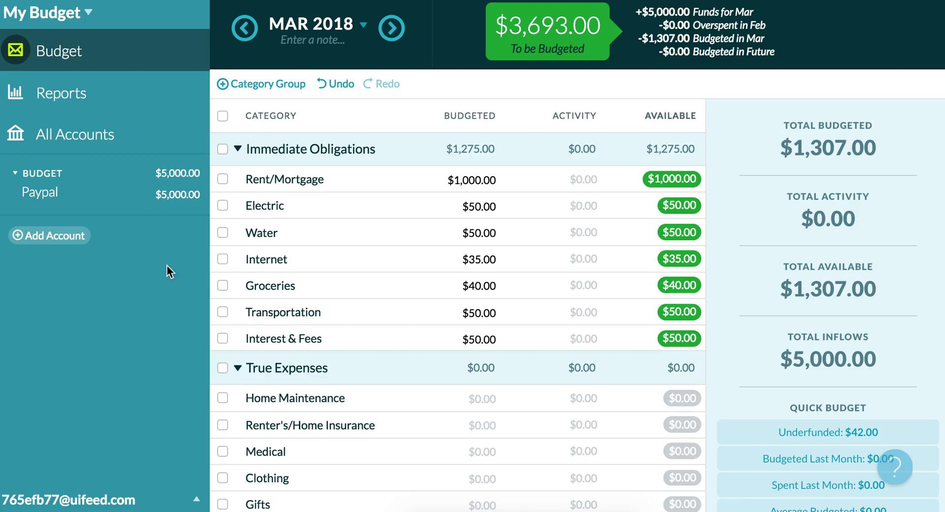 Adding transactions on YNAB video screenshot