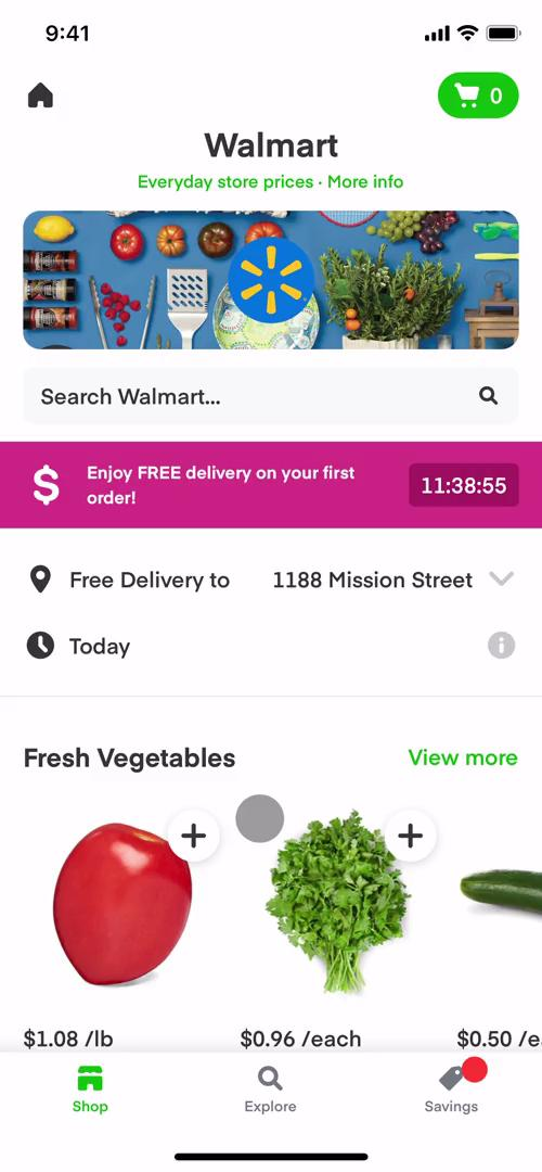 Buying something on Instacart video screenshot