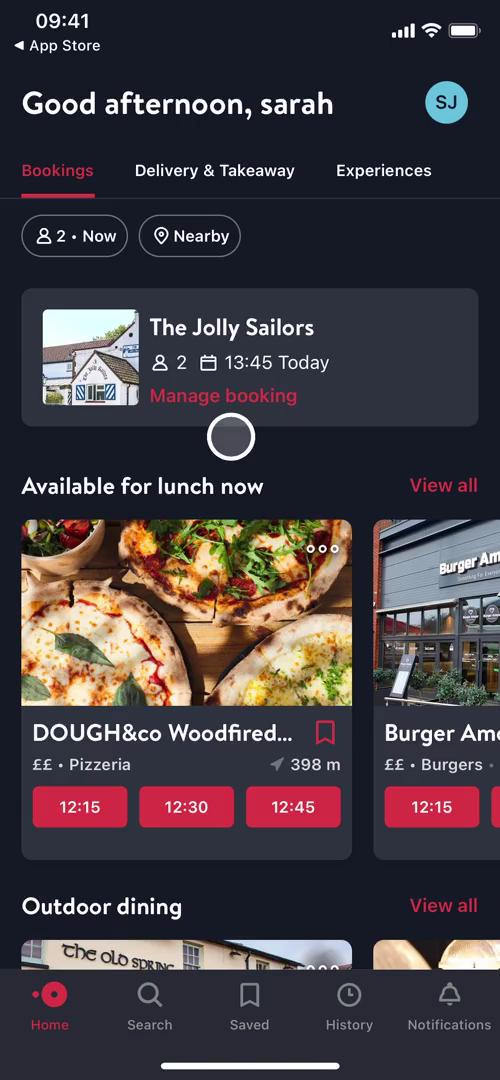 Cancelling an order on OpenTable video screenshot