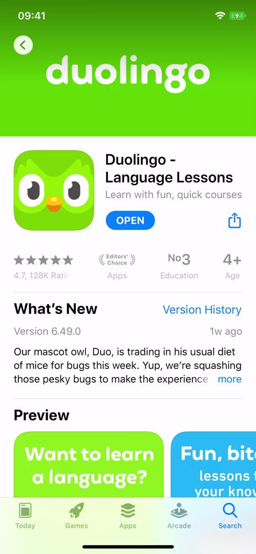 Onboarding on Duolingo video screenshot