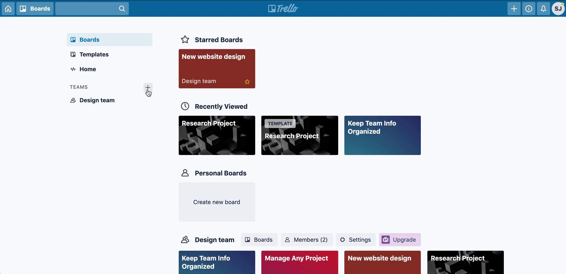 General browsing on Trello video screenshot
