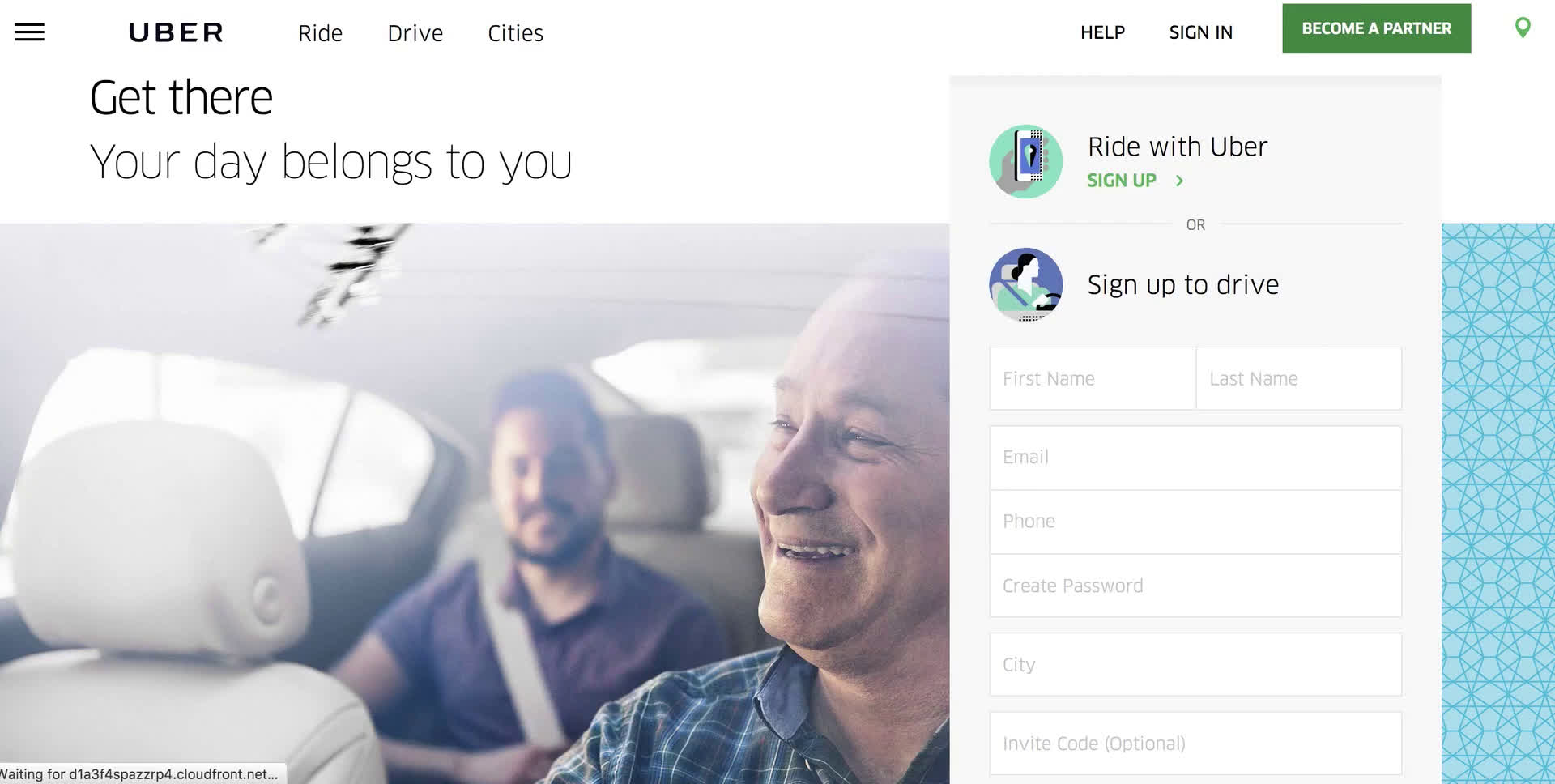 Driver signup on Uber video screenshot