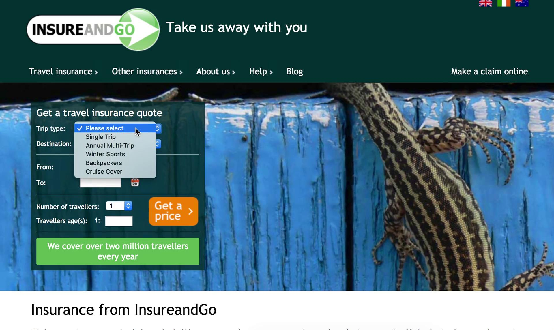 Buying something on InsureandGo video screenshot