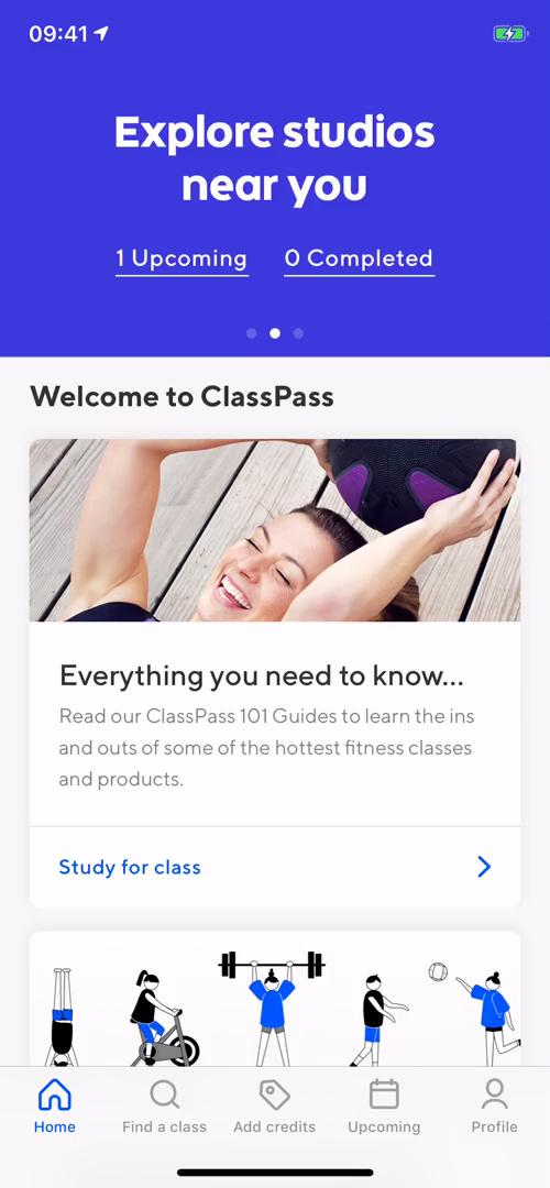 Searching on ClassPass video screenshot