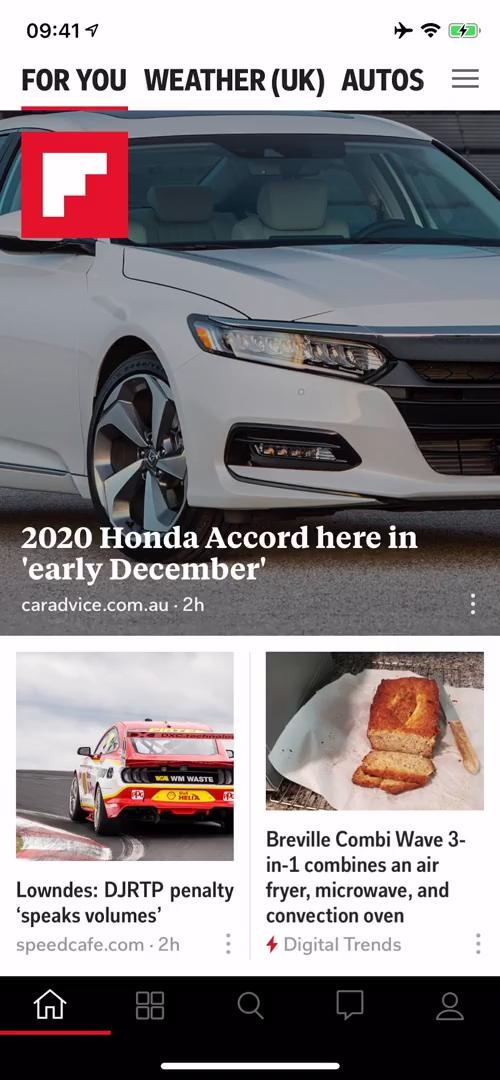 General browsing on Flipboard video screenshot