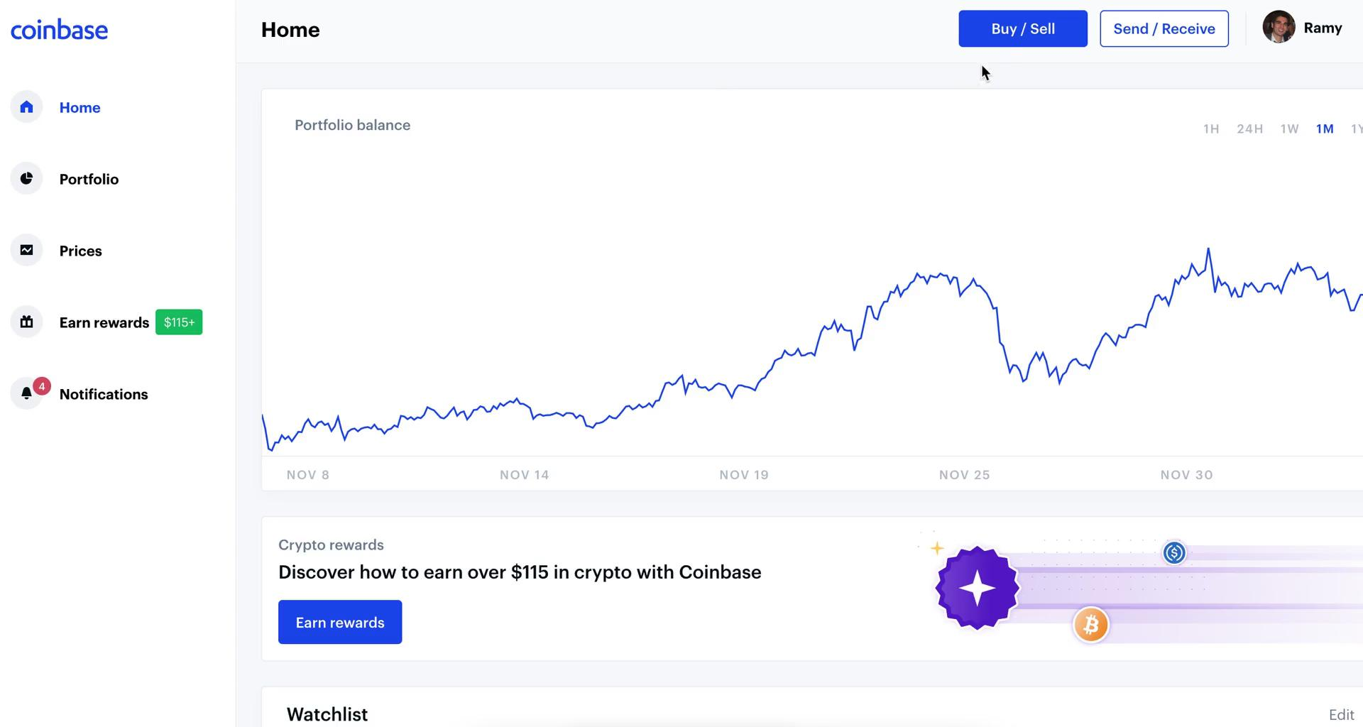 Buying crypto currency on Coinbase video screenshot