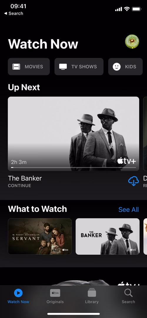 Searching on Apple TV video screenshot