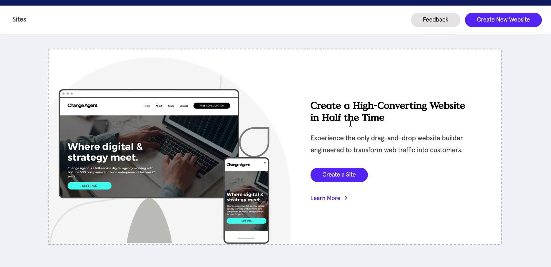 Creating a website on Leadpages video screenshot