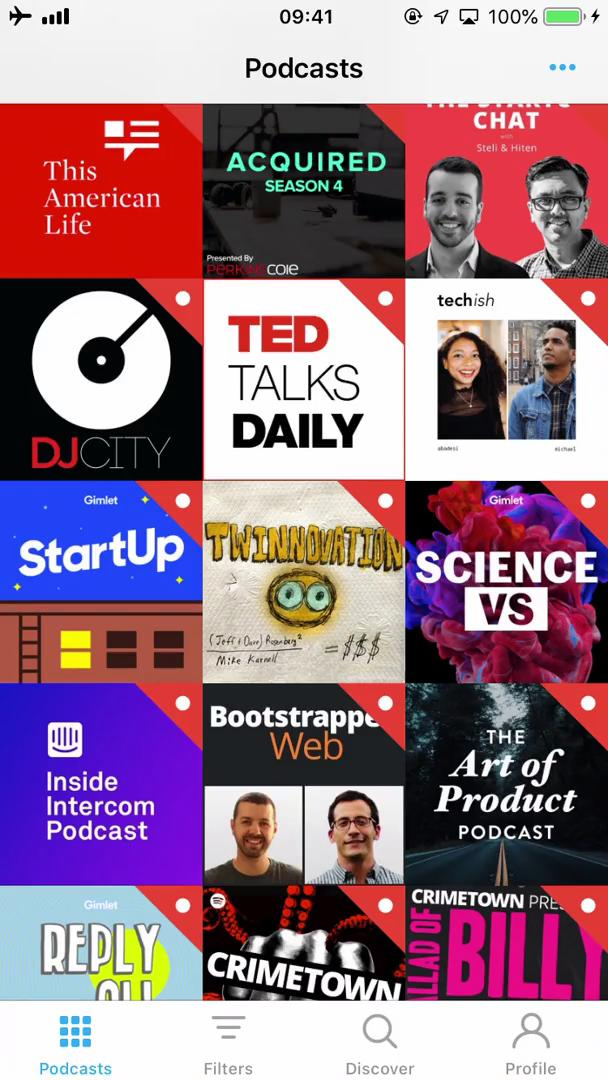 General browsing on Pocket Casts video screenshot