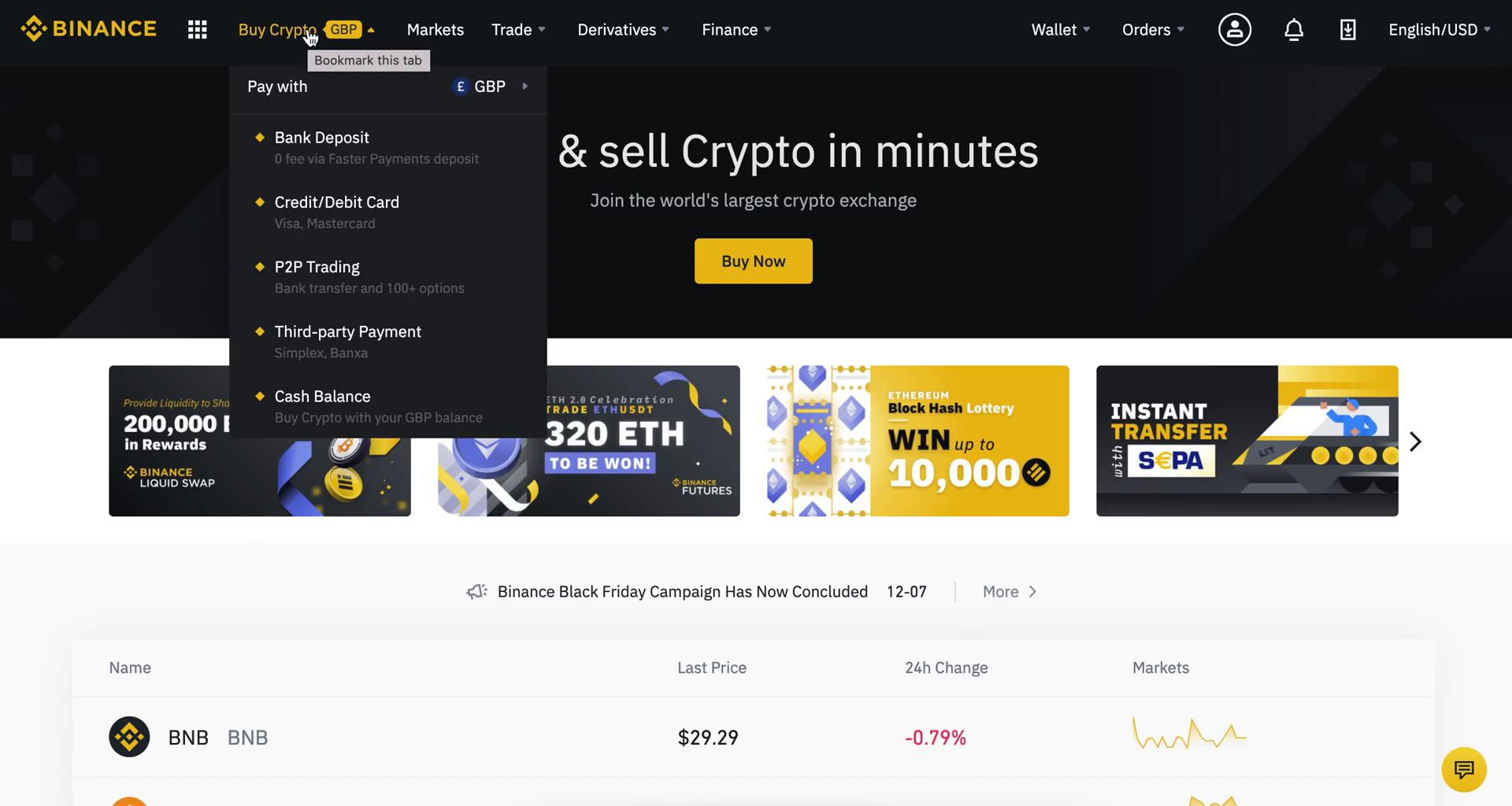 Buying crypto currency on Binance video screenshot