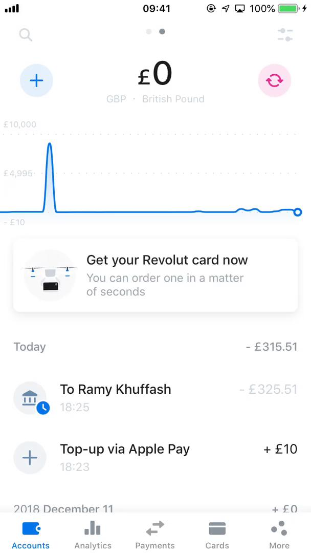 Analytics/Stats on Revolut video screenshot