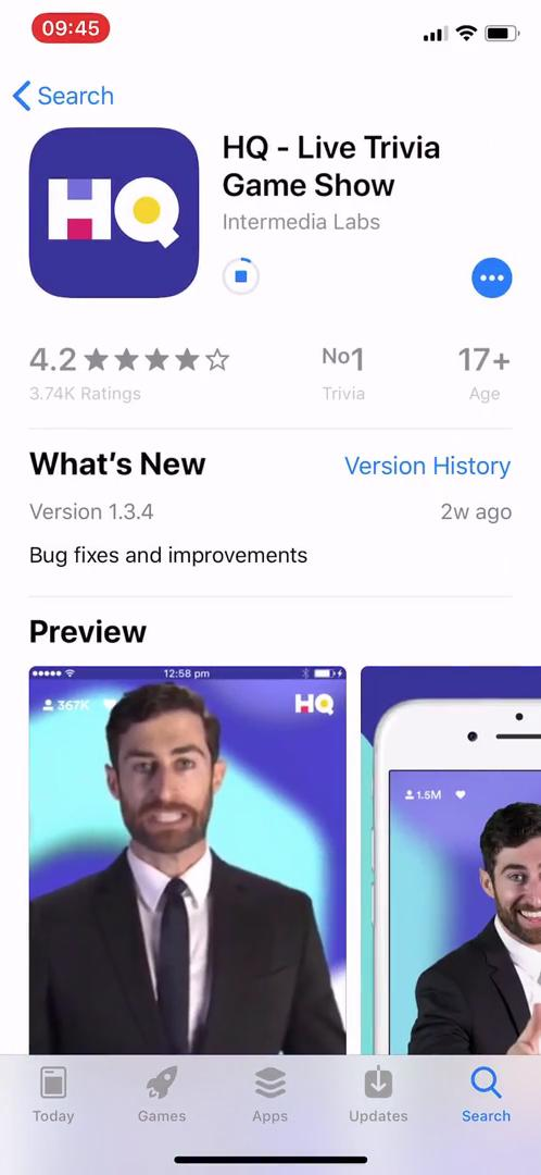 Onboarding on HQ Trivia video screenshot