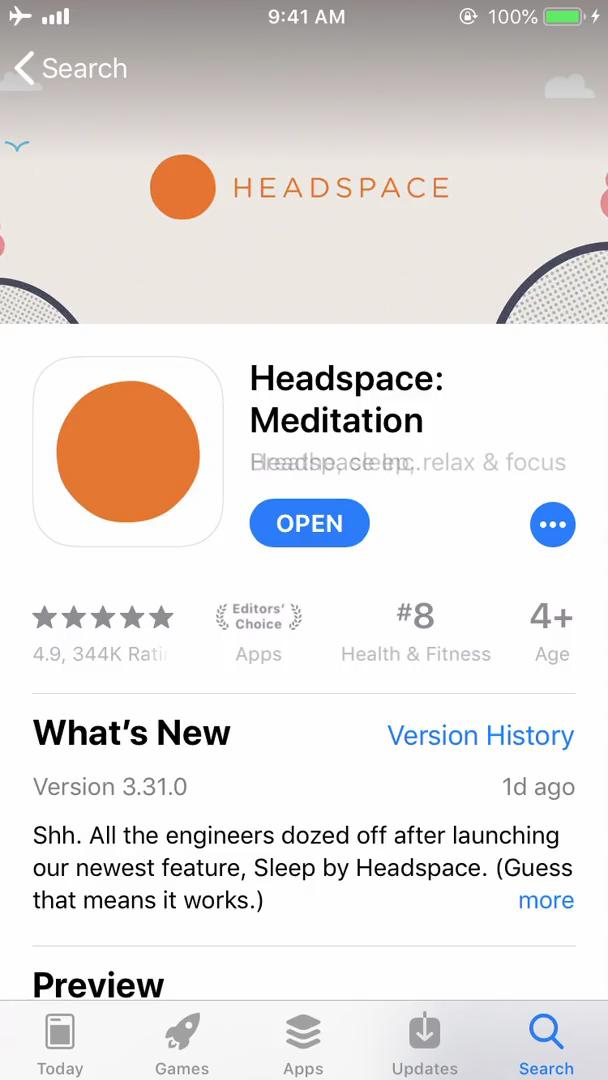 Onboarding on Headspace video screenshot