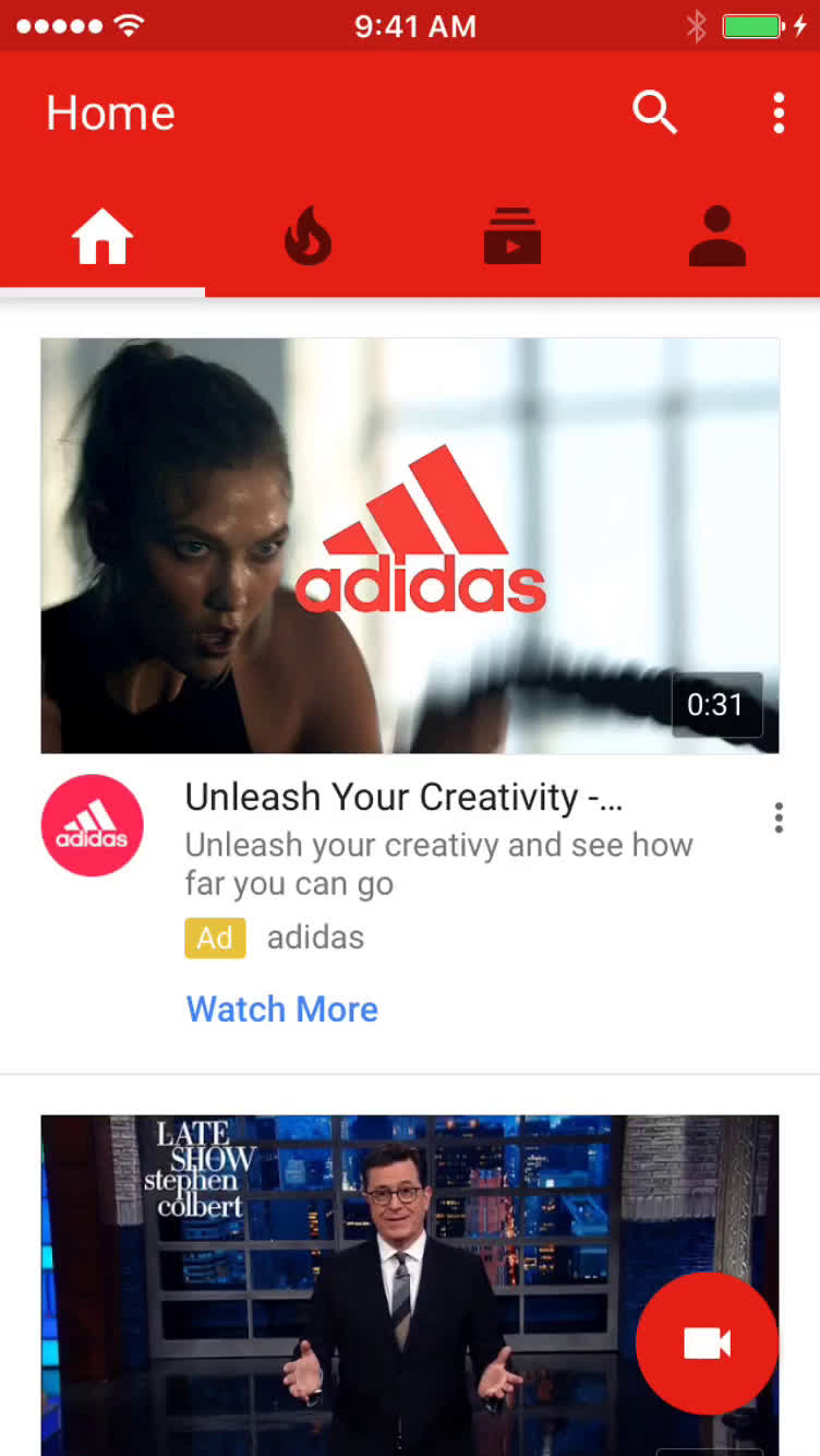 Searching on YouTube video screenshot