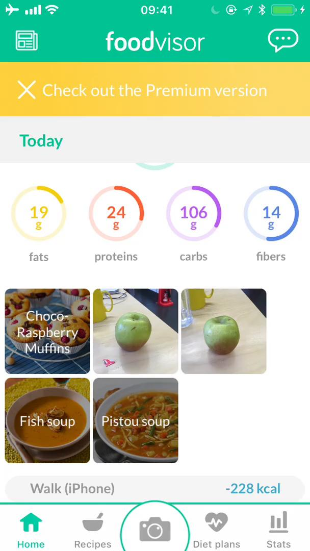 Analytics/Stats on Foodvisor video screenshot