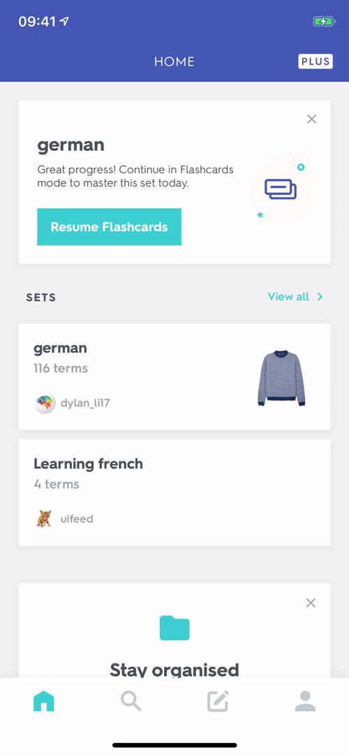 Searching on Quizlet video screenshot