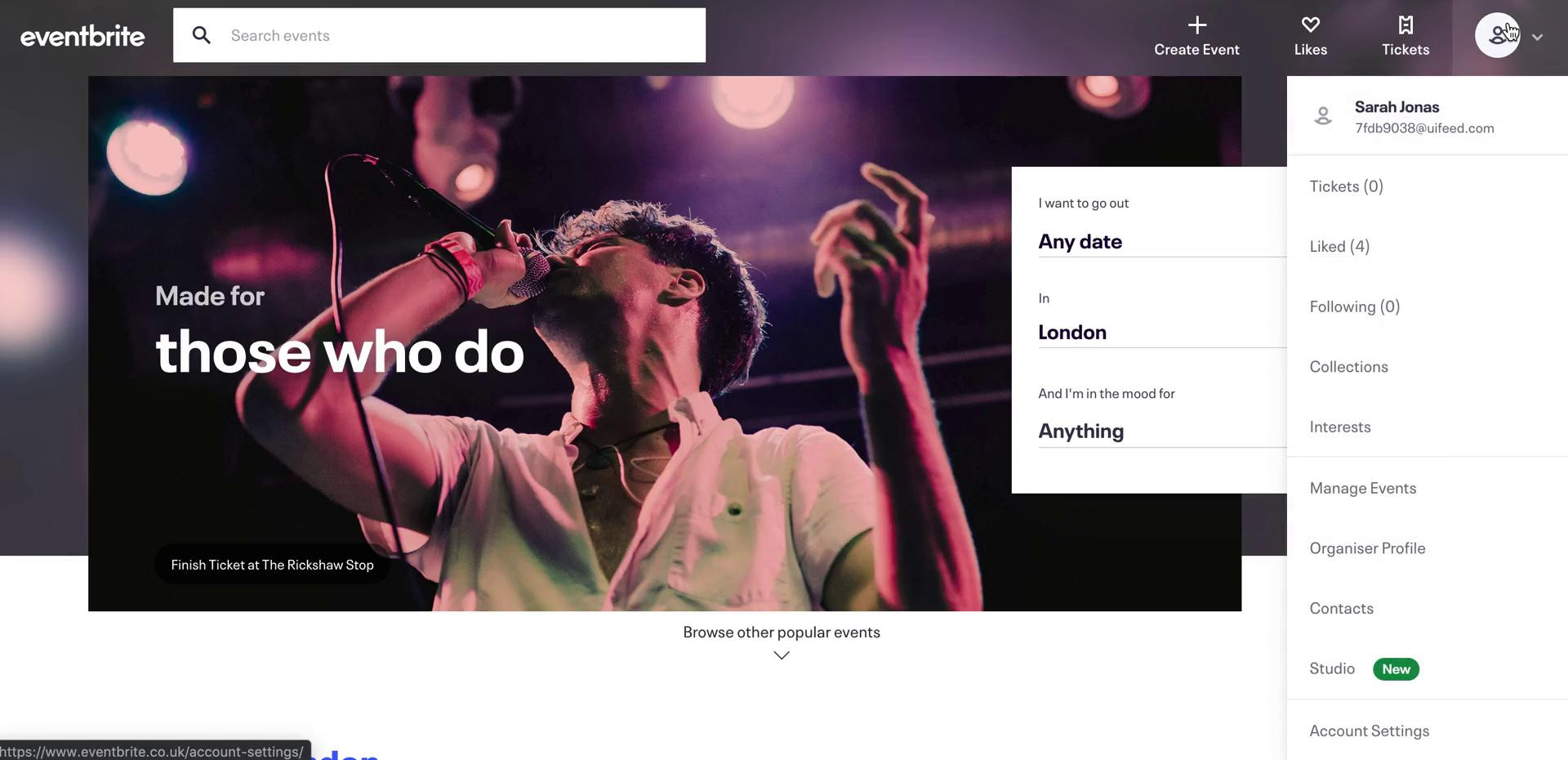 Creating a website on Eventbrite video screenshot